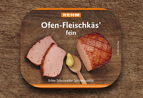 Ofen-Fleischkäs' fein