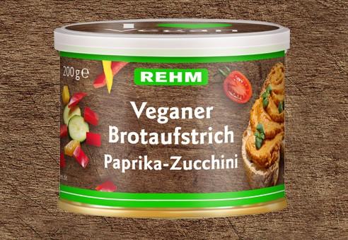Veganer Brotaufstrich Paprika-Zuchini