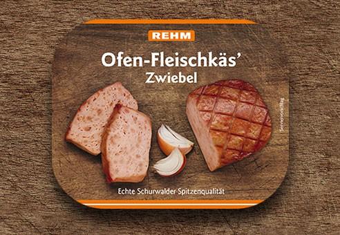 Ofen-Fleischkäs' Zwiebel