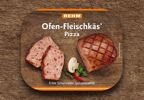 Ofen-Fleischkäs' Pizza